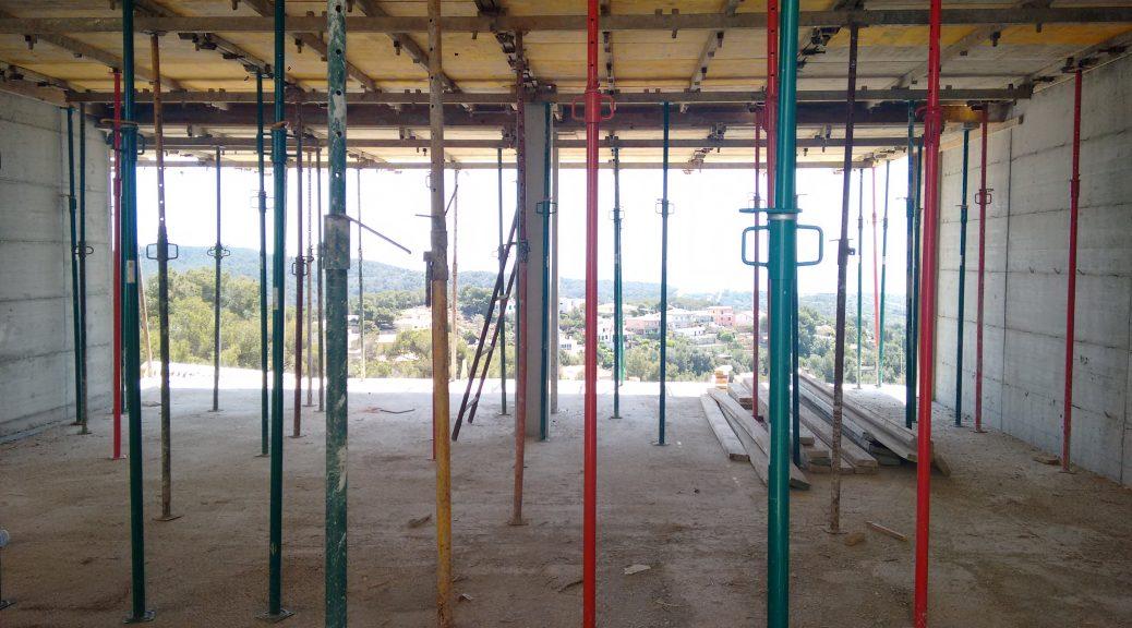 Visita de obra a vivienda unifamiliar en construcción